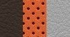 Leather-faced - Two-tone Bark Brown/Ski Grey with orange accents