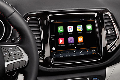 2017 All- New Jeep Compass has available Apple CarPlay compatibility and Android Auto